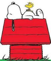 Snoopy on His house