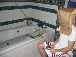 bathtub fishin