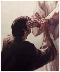 Jesus restoring vision