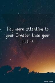 Attention to Creator versus critics