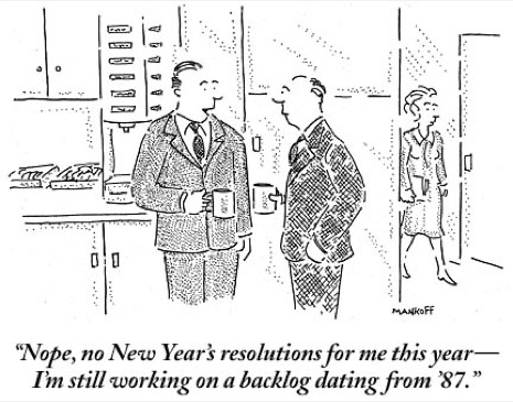 belated new years resolutions