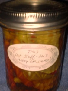 last jar 2012 Hot Pepper mix