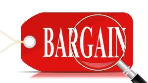 a bargain - a good deal