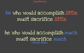sacrifice and character