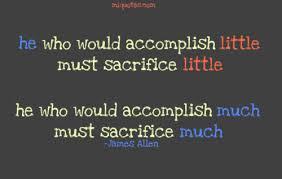 sacrifice and character