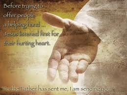 Jesus helping hand salvation healing hurting heart