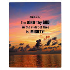 The Lord thy God in the midst of thee is mighty God's presence