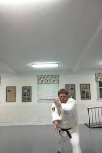 Tim Karate set up for down block