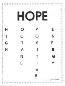 Hope Acrostic picture