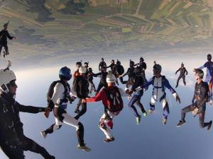a different perspective a new view upside down sky diving