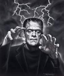 frankenstein with arms stretched out