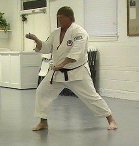 Tim doing Empi karate