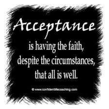 Acceptance all is well in spite of circumstances