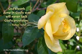 God's provision God will provide for you where He sends you