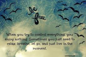 Today live in the moment be free