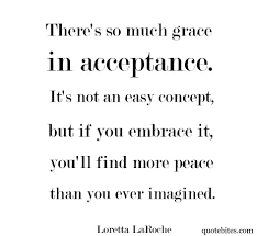 acceptance recovery peace