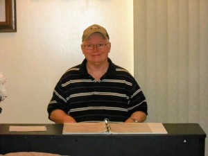 Johnny Bodenheimer at his keyboard