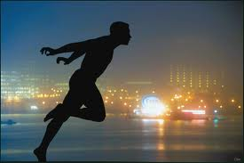 Running with a forward lean